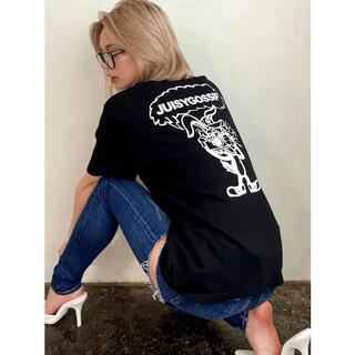 ジェイダ(GYDA)の【WEB限定】paparazzi bunnyロゴTシャツ(Tシャツ(半袖/袖なし))