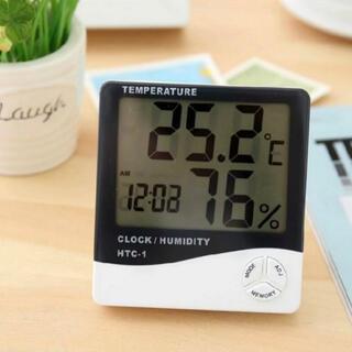 デジタル温湿度計 卓上 壁掛け兼用 アラーム カレンダー 7機能搭載
