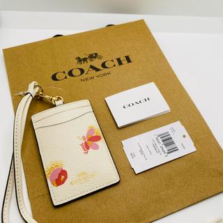 コーチ(COACH)のId Lanyard With Pop Floral Print(パスケース/IDカードホルダー)
