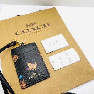 コーチ(COACH)のCOACH キャットプリント 猫柄  IDケース/パスケース(パスケース/IDカードホルダー)