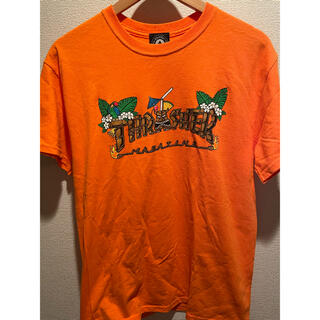 THRASHER - 【希少】THRASHER ロゴ Tシャツ オレンジ Mサイズ