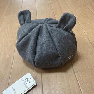 ポロラルフローレン(POLO RALPH LAUREN)のPOLO ポロ ベレー帽 グレー 耳つき 48cm(帽子)