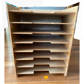 MUJI (無印良品) - 無印 木製書類整理トレー2段 A4 4個セット