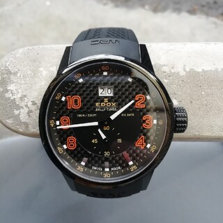 エドックス(EDOX)のメンズ腕時計 エドックス(EDOX)ラリータイマー電池新品(腕時計(アナログ))