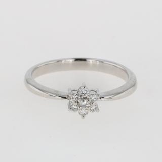 タサキ(TASAKI)のタサキ メレダイヤ デザインリング 12.5号 Pt900 【中古】(リング(指輪))