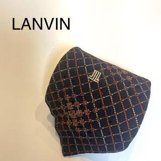 ランバン(LANVIN)のLANVIN ランバン チェック ネクタイ 黒 赤 ランビン(ネクタイ)