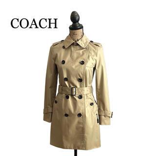 コーチ(COACH)のCOACH コーチ トレンチコート ベージュ レディース(トレンチコート)