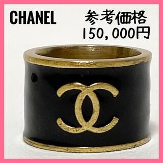 CHANEL - レア❗正規品❗CHANELシャネルリング指輪ココマーク黒ブラックヴィンテージ