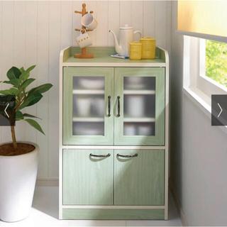 IKEA - ナチュラルモダン♪キッチン収納 食器棚 (高さ90.5cm) /グリーン