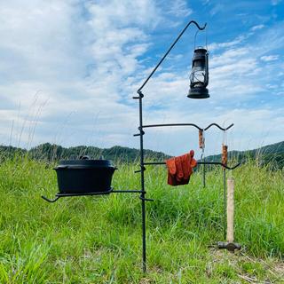 焚き火 ハンガー ランタンハンガー フライパン置き 鍋置き キャンプ アウトドア