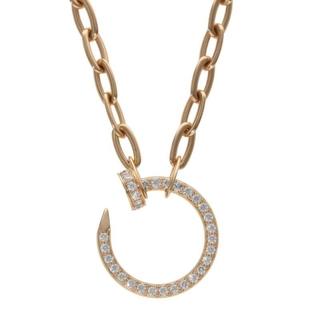 Cartier - カルティエ K18PG パヴェダイヤモンド チェーンネックレス