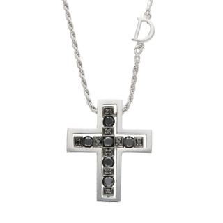 ダミアーニ(Damiani)のダミアーニ K18WG ブラックダイヤモンド クロスネックレス S(ネックレス)