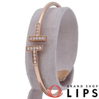 Tiffany & Co. - ティファニー Tワイヤーダイヤバングル  K18PG