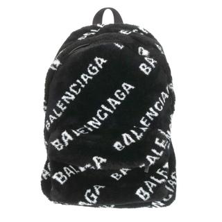 バレンシアガ(Balenciaga)のバレンシアガ 552379 エブリデイファー ロゴ総柄ボアバックパック(リュック/バックパック)