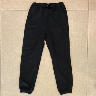 GU - GU 防風 ジョガーパンツ 150 スポーツ 黒 シャカパン 冬パンツ