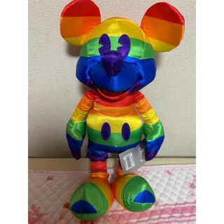 ミッキーマウス(ミッキーマウス)のディズニー レインボー ミッキー ぬいぐるみ(キャラクターグッズ)