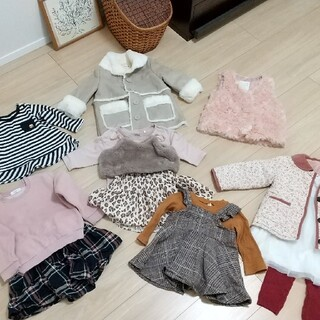 petit main - 女の子 冬服 まとめ売り