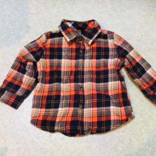 ベビーギャップ(babyGAP)の美品 チェックシャツ シャツ GAP 90(ブラウス)