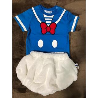 Disney - ディズニー ドナルド 公式 なりきりコスチューム もこもこパンツ 80  衣装
