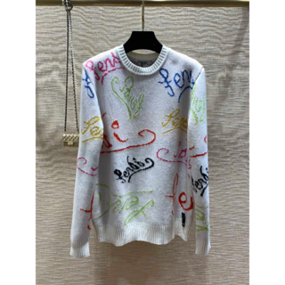 FENDI - FENDI◆フェンディ◆アーティスト ウール セーター