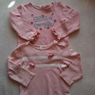 Shirley Temple - シャーリーテンプル 長袖Tシャツ ピンク 90