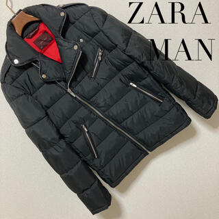 ZARA - 美品 完売品◆ZARA MAN ザラ マン◆ライダース 中綿 ダウンジャケット