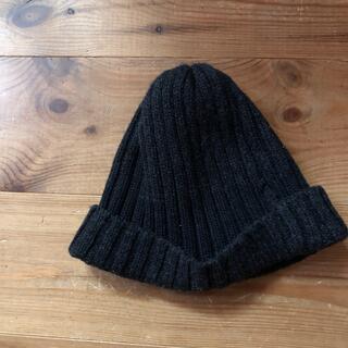 ムジルシリョウヒン(MUJI (無印良品))のウール100 無印良品 帽子 ダークグレー(ニット帽/ビーニー)