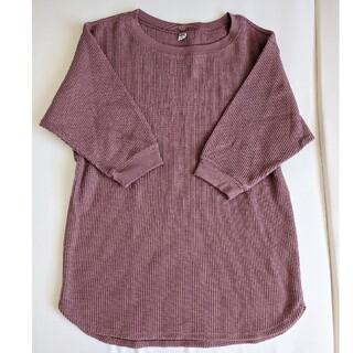 UNIQLO - UNIQLO ワッフルTシャツ 七分袖