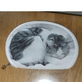 フェリシモ(FELISSIMO)のフェリシモ  猫部 うだまさんちの猫  パッカーン!猫の開き(ポーチ)