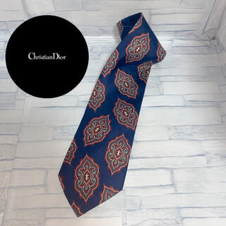 クリスチャンディオール(Christian Dior)の美品 クリスチャンディオール ネクタイ ペイズリー柄 ネイビー(ネクタイ)