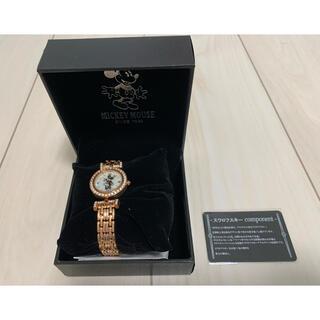 Disney - ミニー スワロフスキー 腕時計 ピンクゴールド