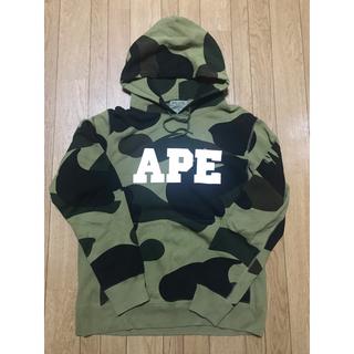 A BATHING APE - Bape big camo hoodie パーカー