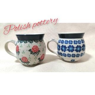 セラミカ マグカップ 2種セット ポーランド食器(グラス/カップ)
