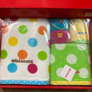ミキハウス(mikihouse)の新品未使用【MIKIHOUSE 】バスタオル タオルセット(タオル/バス用品)
