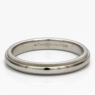ティファニー(Tiffany & Co.)の【中古】Tiffany&Co. リング 指輪 PT950 プラチナ ミルグレイン(リング(指輪))