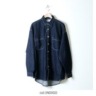 COMOLI - Graphpaper ) Denim Regular Collar Shirt