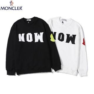 MONCLER - 2枚1000円引 MONCLER#HYZ100904 ロゴ付き スウェット  白