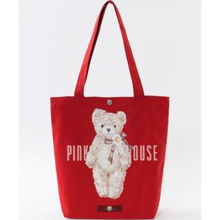 ピンクハウス(PINK HOUSE)のピンクハウス  ひなぎくベアトートバッグ 赤 2021年新作(トートバッグ)