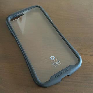 iFace 背面クリア  iPhone8Plus  ブラック