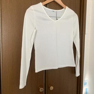 グレイル(GRL)のGRL ホワイト 長袖 トップス Tシャツ 新品未使用品(Tシャツ(長袖/七分))