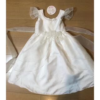 クレアーズ(claire's)のタグ付き 試着のみ サテンオーガンジードレス 120(ドレス/フォーマル)