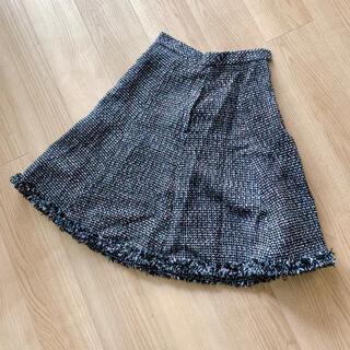 トッカ(TOCCA)のTOCCAトッカ ツイードスカート サイズ4 フレアスカート(ひざ丈スカート)