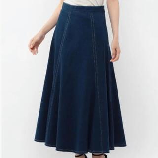 ミッシュマッシュ(MISCH MASCH)のデニムフレアスカート(ロングスカート)