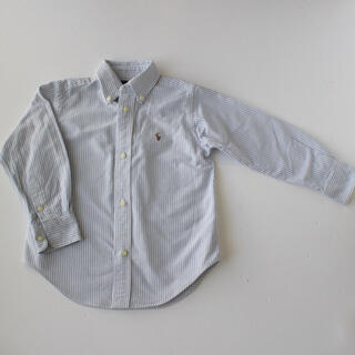 Ralph Lauren - ラルフローレン 長袖 ボタンダウンシャツ 3T 100 ブルー系