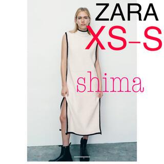 ZARA - ZARA コントラストパイピング ニットチュニック XS-S