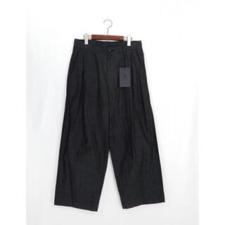 COMOLI - URU [ウル] 1 TUCK PANTS [F BLACK] [21SCC02