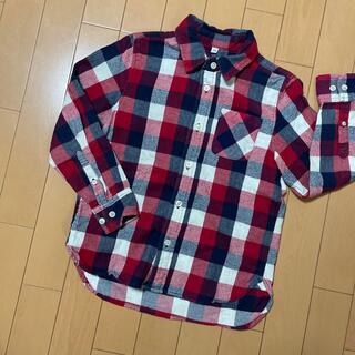 ムジルシリョウヒン(MUJI (無印良品))の無印良品 ネルシャツ 130(ブラウス)
