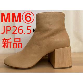 エムエムシックス(MM6)の新品 MM6 メゾンマルジェラ ウッドチャンキーヒール アンクルブーツ(ブーツ)