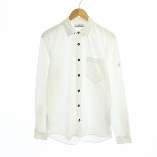 STONE ISLAND - ストーンアイランド ワイシャツ ロゴパッチ 長袖 S 白