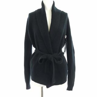 グッチ(Gucci)のグッチ ニットカーディガン ショールカラー 長袖 カシミヤ GG XS 黒(カーディガン)